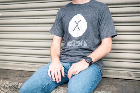 man in gray tshirt with transplant logo